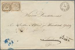 Br Baden - Marken Und Briefe: 1862, Zweimal Wappenausgabe 9 Kreuzer Mittelchromgelb (fahlbraun) Je Mit - Baden