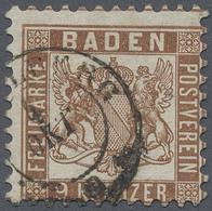 O Baden - Marken Und Briefe: 1866/68, Wappenzeichnung 9 Kreuzer Lebhaftbraun Mit Weißem Hintergrund, E - Baden