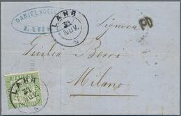 Br Baden - Marken Und Briefe: 1862, 18 Kreuzer Lebhaftgrün Als Portogerechte Einzelfrankatur Auf Auslan - Baden