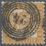 """O Baden - Marken Und Briefe: 1862, 30 Kr. Lebhaftgelborange Mit Klarer Nummer """"24"""", Farbfrisch Mit Min - Baden"""