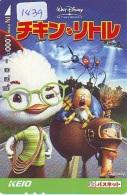 Carte Prépayée Japon  (1439)  DISNEY * Chicken Little  *  CINEMA  * JAPAN PREPAID CARD - Disney
