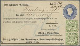 GA Baden - Ganzsachen: 1866, 6 Kr. Ganzsachenumschlag Mit Vordruck Der Verlagsbuchhandlung Adolph Emmer - Baden