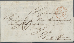 Br Baden - Ortsstempel: SCHLIENGEN / 21 FEB (1852), Sehr Klarer Roter (!) K2 Ohne Jahreszahl Auf Kpl. P - Baden