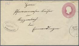 """GA Baden - Postablagestempel: 1870, 3 Kreuzer Ganzsachenumschlag Mit Besserem Postablagestempel """"Steins - Baden"""