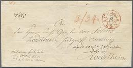 """Br Bayern - Vorphilatelie: 1800 (ca.), Roter Fahrpost-K2 """"ANSBACH"""" Als Seltener, Dekorativer Aufgabestp - Germany"""