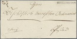 Br Bayern - Vorphilatelie: OSTERHOFFEN, Klarer Schwarzer L1 Auf Ordinariatsbrief Vom 11. Februar 1807 N - Germany