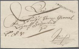 """Br Bayern - Vorphilatelie: 1813 (ca.), Feldpost, L1 """"K.B.FELDPOSTAMT"""" In Kleiner Type Auf Faltbriefhüll - Germany"""