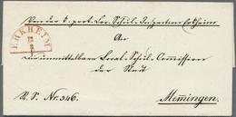 Br Bayern - Vorphilatelie: ERKHEIM / 12.9. (1844), Leuchtend Roter Segmentstempel Aus Dem Eröffnungsjah - Germany