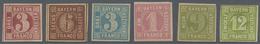 * Bayern - Marken Und Briefe: 1850/1862, Kleines, Sauber Ungebrauchtes Lot Von 5 Marken Der Quadrataus - Bavaria