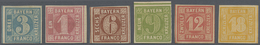 * Bayern - Marken Und Briefe: 1850, Quadrat-Ausgaben 1 Kr. Rosa Bis 18 Kr. Gelblichorange, Sechs Werte - Bavaria
