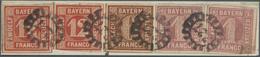 Brfst Bayern - Marken Und Briefe: 1850 - 1858, Freimarken 12 Kr, 6 Kr Und 1 Kr Zusammen Als Streifen Auf B - Bavaria