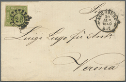 Br Bayern - Marken Und Briefe: 1860/1864,1869, Drei Briefe Nach Italien, Zwei Mit 9 Kreuzer Porto Darge - Bavaria