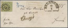 Br Bayern - Marken Und Briefe: 1851, Quadratausgabe 9 Kr. Maigrün, Type III (unten Knapp, Sonst Breitra - Bavaria