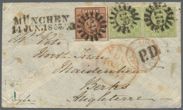 Br Bayern - Marken Und Briefe: 1953, Sehr Seltene 24 Kr. Frankatur Nach England: Seidenpapier-Briefumsc - Bavaria