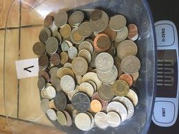 Lot De 1 Kg De Monnaies étrangères . Port Gratuit. Vous Achetez Le Kilo En Photos. Lot 1 - Non Classés