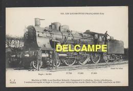 DD / TRANSPORTS / CHEMINS DE FER  / LOCOMOTIVE FRANÇAISE (EST) : MACHINE 3162 À SURCHAUFFEUR SCHMIDT / 1910 - Trains