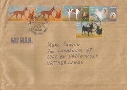 Malta 2001 Victoria Gozo Maltese Dogs FDC Postmark Cover - Honden