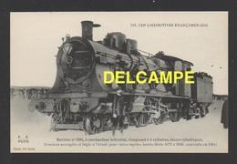 DD / TRANSPORTS / CHEMINS DE FER  / LOCOMOTIVE FRANÇAISE (EST) : MACHINE 3184 À SURCHAUFFEUR HÉLICOÏDAL / 1911 - Trains