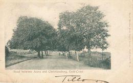 Gold Coast 1904 Accra Road To Christiansborg Basel Mission Book Depot Viewcard To Malta - Ghana - Gold Coast