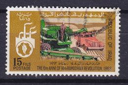 Iraq Irak 1969 Mi. 544    15 F Jahrestag Der Ramadan-Revolution Mähmaschine Lastwagen - Irak
