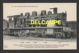 DD / TRANSPORTS / CHEMINS DE FER  / LOCOMOTIVE FRANÇAISE (EST) : MACHINE 4038 À VAPEUR SATURÉE / 1907 - Trains