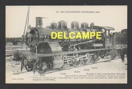 DD / TRANSPORTS / CHEMINS DE FER  / LOCOMOTIVE FRANÇAISE (EST) : MACHINE 4115 À SURCHAUFFEUR HÉLICOÏDAL / 1911-12 - Trains