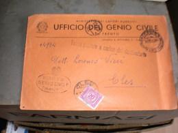Trento Poste Genio Civile  To Cles - Storia Postale
