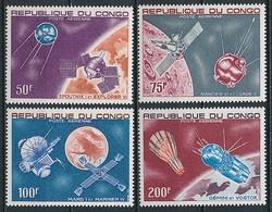 Raumfahrt / Kongo Nr. 134-137 ** - Space