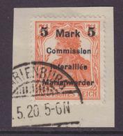 Marienwerder MiNr. 25AIa Gest. Briefstück Gepr. - Duitsland