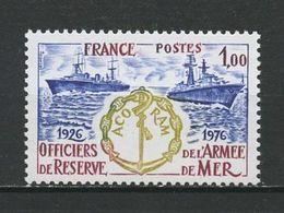 FRANCE 1976 N° 1874 ** Neuf MNH Superbe Bateaux Navires Ships Officiers De Réserve Armée De Mer ACORAM - France