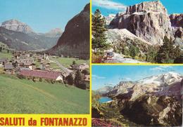 TRENTO - Mazzin - Saluti Da Fontanazzo - 3 Vedute - 1989 - Trento