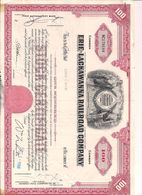 1 Stück - 100 Shares - Erie-Lackawanna Railroad Company 1.12.1966 - Entwertet - Chemin De Fer & Tramway