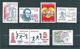 Monaco Timbres De 2008  N°2624 A 2630  Neuf ** Parfait Vendu Sous Faciale (faciale 6,51€) - Nuovi