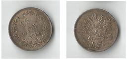 FINLANDE  25  PENNIA 1916  ARGENT - Finlande