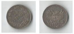 FINLANDE  25  PENNIA 1917  ARGENT - Finlande