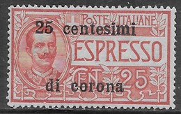 Italia Italy 1919 Occupazioni Trento E Trieste Espresso C25 Sa N.E1 Nuovo MH * - 8. WW I Occupation