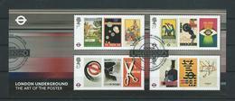 GROSSBRITANNIEN GRANDE BRETAGNE GB 2013 M/S LONDON UNDERGROUND POSTERS USED SG MS3429 MI B80-3402-05 YT F99-3796-99 SC - Blocs-feuillets