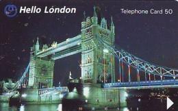 Télécarte Japon ANGLETERRE (288) GREAT BRITAIN Related * ENGLAND Phonecard Japan * LONDON * TOWER BRIDGE - Paysages