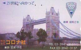 Télécarte Japon ANGLETERRE (289) GREAT BRITAIN Related * ENGLAND Phonecard Japan * LONDON * TOWER BRIDGE - Paysages