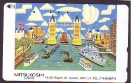 Télécarte Japon ANGLETERRE (290) GREAT BRITAIN Related * ENGLAND Phonecard Japan * LONDON * TOWER BRIDGE - Paysages