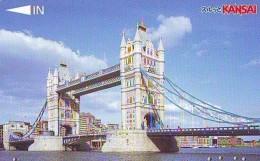 Carte Prepayee  Japon ANGLETERRE (292) GREAT BRITAIN Related * ENGLAND Prepaid Card Japan * LONDON * TOWER BRIDGE - Paysages