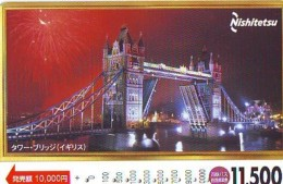 Carte Prepayee  Japon ANGLETERRE (293) GREAT BRITAIN Related * ENGLAND Prepaid Card Japan * LONDON * TOWER BRIDGE - Paysages