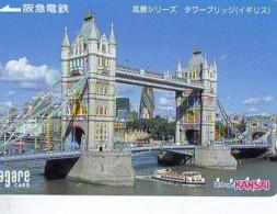Carte Prepayee  Japon ANGLETERRE (294) GREAT BRITAIN Related * ENGLAND Prepaid Card Japan * LONDON * TOWER BRIDGE - Paysages
