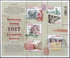 """2017 - Bl 256 - De Groote Oorlog - Deel 4 """"De Communicatie"""" / La Grande Guerre - Partie 4 """"La Communication"""" - XX - Blocs 1962-...."""