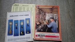 Catalogue Du Pendulier Amateur Selva Mouvement Accessoire Outillage Tarif 1992 Horlogerie Pendule Comtoise - Autres