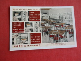 Horn & Hardart Automat Cafeterias Philadelphia & New York Ref 2838 - Advertising