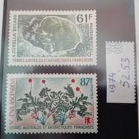 TAAF Année 1974 Flore 2 Valeurs    Y&T 52 & 53- Neuf  MUH Mint - Ongebruikt