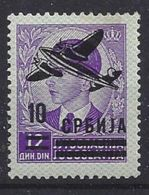 Serbien 1942  Flugpostmarken  (*) MH  Mi.68 - Occupation 1938-45
