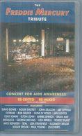 """2 K7 VIDEO  -  FREDDIE MERCURY   """" TRIBUTE - CONCERT FOR AIDS AWARENESS """"  ( Boitier 2 K7 ) - Concert Et Musique"""
