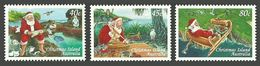 CHRISTMAS ISLAND 1997 CHRISTMAS SANTA BIRDS OWL SEABIRDS SET MNH - Christmas Island